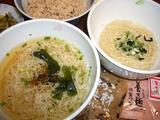 理想の点心セット!! 新養々麺(養々麺)と十五穀米。