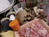 きのこご飯の材料