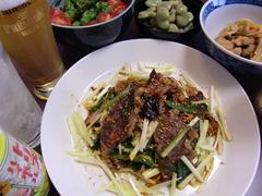 牛バラ肉キムチ炒めの完成