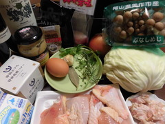 チキンとキャベツのブレゼの材料