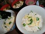 竹の子御飯の完成