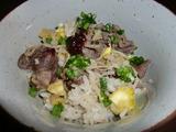 栗と牛肉の炊き込みご飯の完成