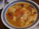 きくらげ入り中華風とまとスープの完成
