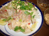 鯛サラダの盛り付け