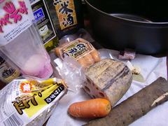 ココット料理(スープ)の材料