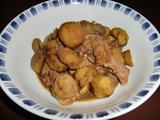 栗と鶏手羽元の煮物の完成