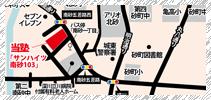 砂町秀栄ゼミナールの地図