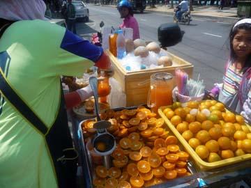オレンジジュース屋台