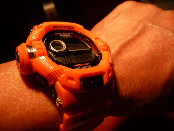 G-SHOCK RISEMAN Men in Rescue Orange