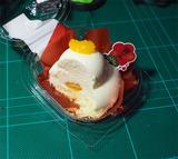 鏡餅風ムースケーキ断面