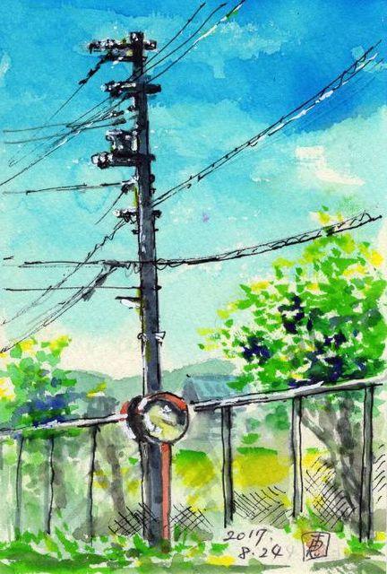 17電信柱・夏日369_1