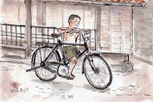 我が家に初めて自転車が来た ...