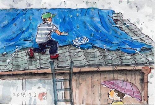 18屋根のブルーシート723_1
