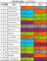 1月15日中山2レース