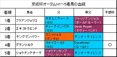 京成杯オータムハンデ2015結果