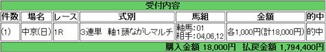 【馬券】<7月15日 俺の三連単【三】>