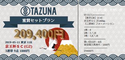 TAZUNA京王杯スプリングカップ的中