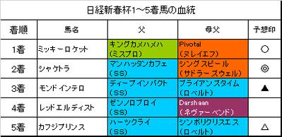 日経新春杯2017結果