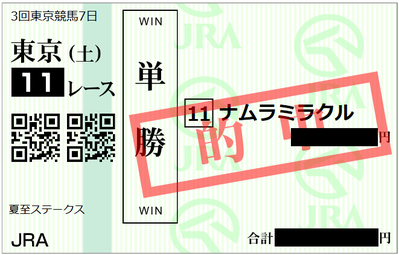 2018年6月23日東京11R