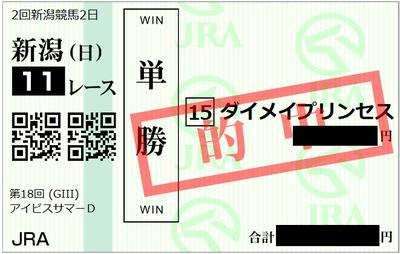 2018年7月29日新潟11R