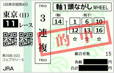 2018年2月18日東京11R2