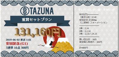 TAZUNA安田記念的中