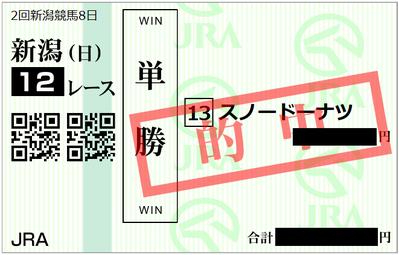 2018年8月19日新潟12R