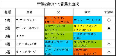 新潟2歳ステークス2016結果