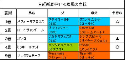 日経新春杯2018結果