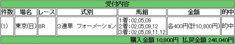 【馬券】<6月10日 俺の東京>