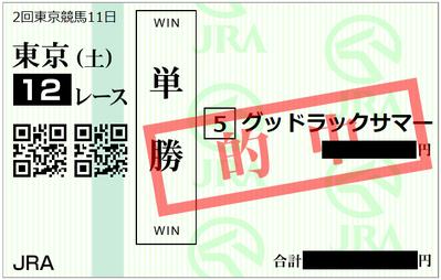 2018年5月26日東京12R