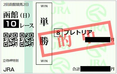 2018年7月8日函館10R