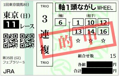 2018年2月18日東京11R