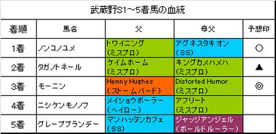 武蔵野ステークス2015結果