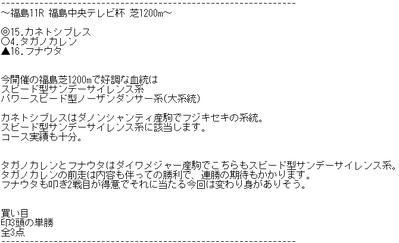 レジまぐ4月21日福島11R