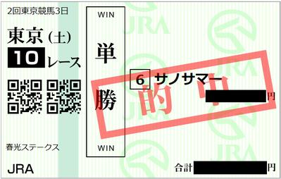 2019年4月27日東京10R