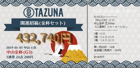 tazuna中山金杯的中