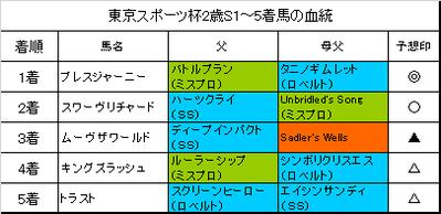 東京スポーツ杯2歳ステークス2016結果