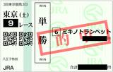 2018年6月9日東京9R