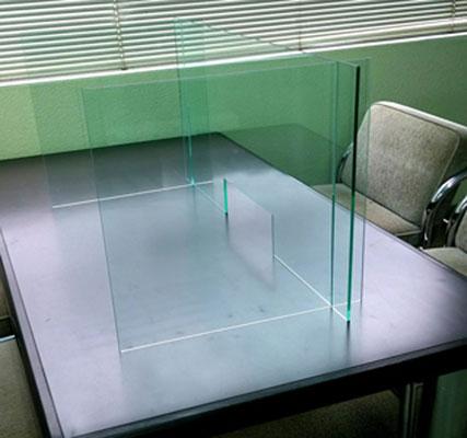 飛沫感染防止卓上パーテーションボックスタイプ