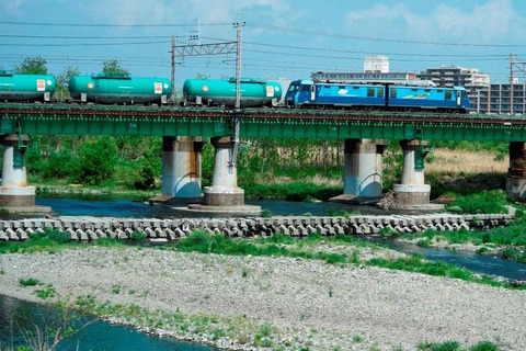 _TT19877多摩川橋梁86レ EH200-10s-