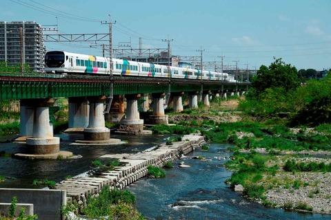 _TT19909 多摩川橋梁 E257系s-