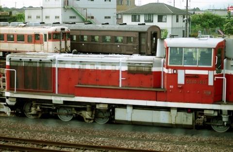 DE101521、圧縮キハ58、オハフ33美濃太田