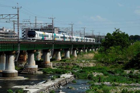 _TT19905 多摩川橋梁 E257系s-