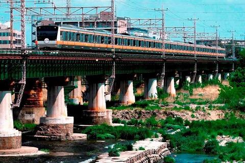 _TT19912 多摩川橋梁 東京アドベンチャーライン E233系s-