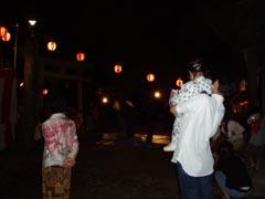 実家付近の神社でお盆祭り