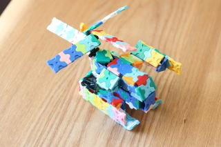 LaQで作った変形ヘリコプターロボ