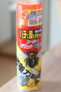 朝方にハチの巣を駆除しました