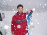今年最初のスノーボード