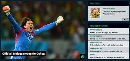 Official  Malaga swoop for Ochoa   Goal.com